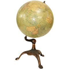 Antique Globe Bronze Base