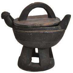 Late 19th Century Asian Wood Vessel
