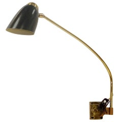1950s, Austrian Swing Arm Articulating Wall Lamp