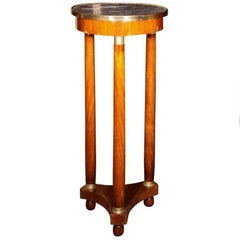 19th Century Marble-Top Pedestal