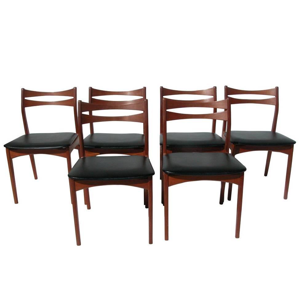Vintage Danish Modern Teak Dinning Chair For Sale At 1stdibs