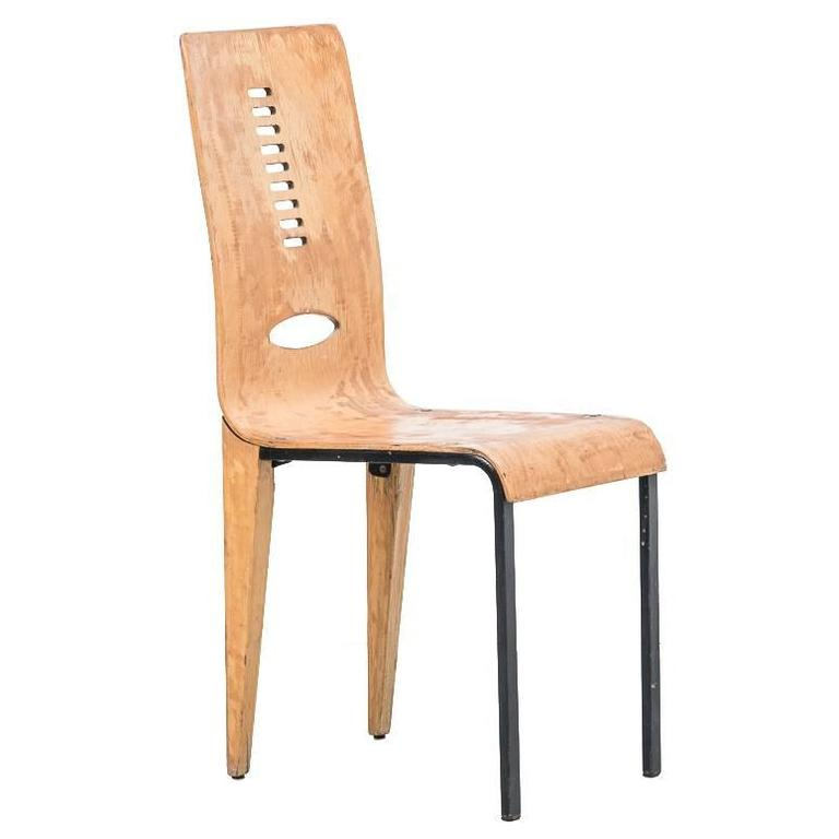 A set of four early French Modernist Dining Chair in the Manner of Jean Prouve