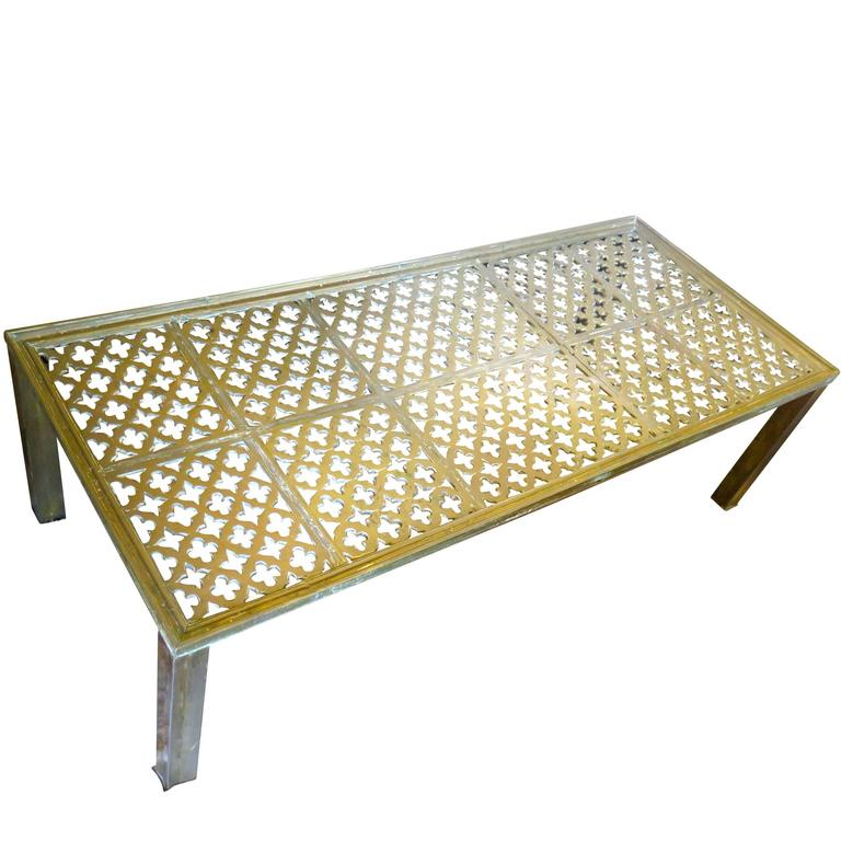 Beautiful Bronze Brass Moroccan Coffee Table at 1stdibs
