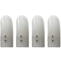 Five Lovely Murano Glass Sconces Wall Lights Lotus by J.T. Kalmar, 1960s