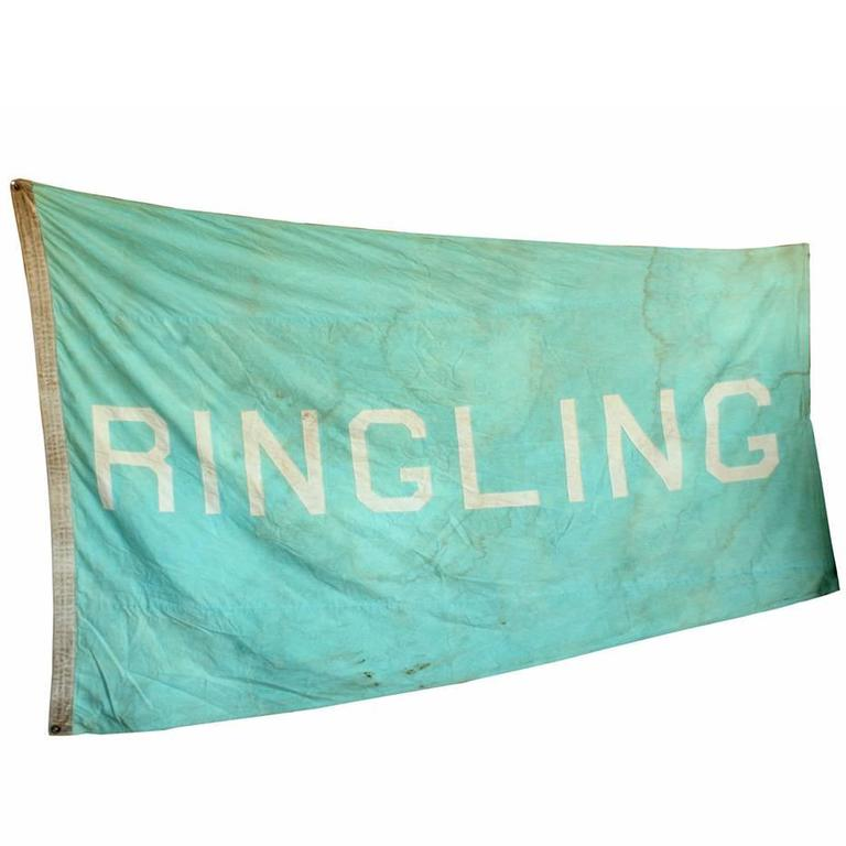 Vintage Circus Tent Flag, Ringling 1