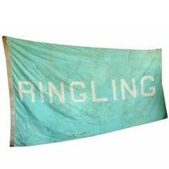 Vintage Circus Tent Flag, Ringling