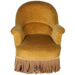 Napoleon III Upholstered Slipper Chair, 1900