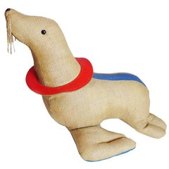 1971, Germany, Therapeutic Toy Seal by Renate Müller Oversized Stuffed Animal
