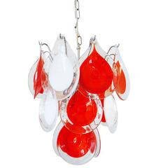 Gino Vistosi Chandelier for Venini Murano Glass Drop, 1960s