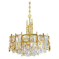 Stunning Gold-Plated and Cut Crystal Chandelier by Palwa, Germany ...