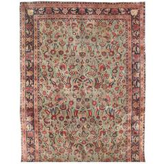 Exceptional Antique Persian Kashan Carpet