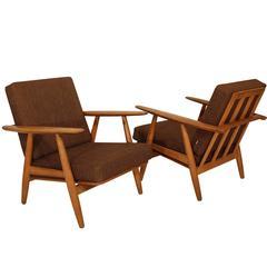 Hans Wegner, Pair of Cigar Chairs Model GE 240
