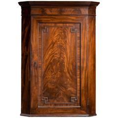 Late George III Period Mahogany Corner Cupboard