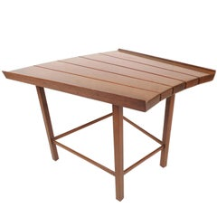 Mid-Century Modern Dunbar Style Slat Bench