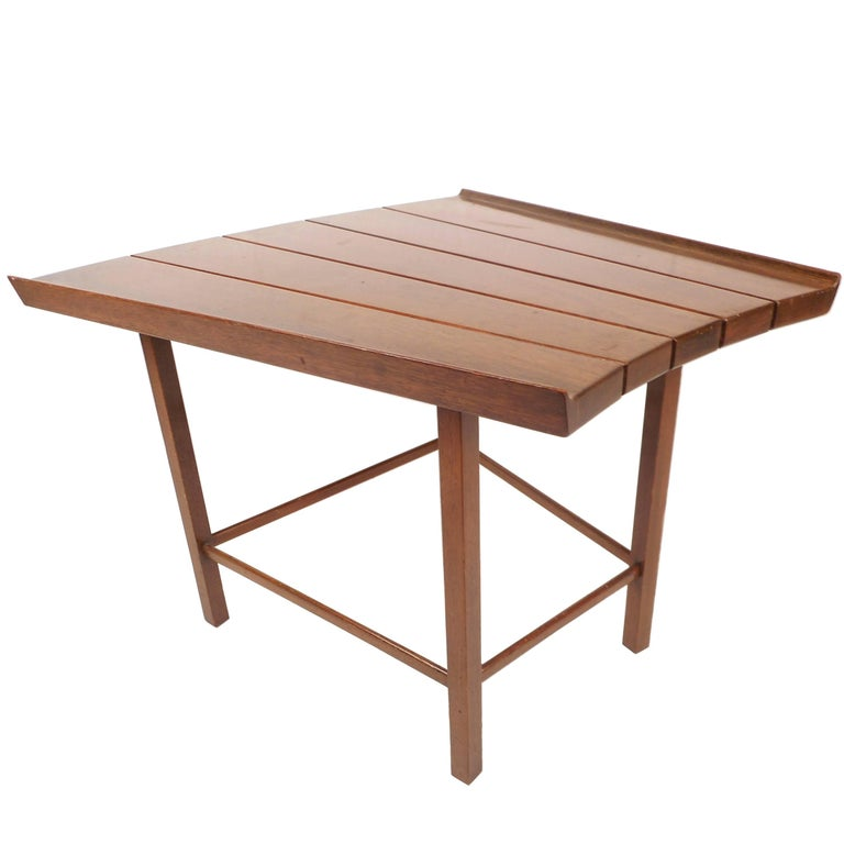 Mid-Century Modern Dunbar Style Slat Bench For Sale