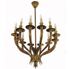 Gio Ponti Designed Twelve-Light Chandelier