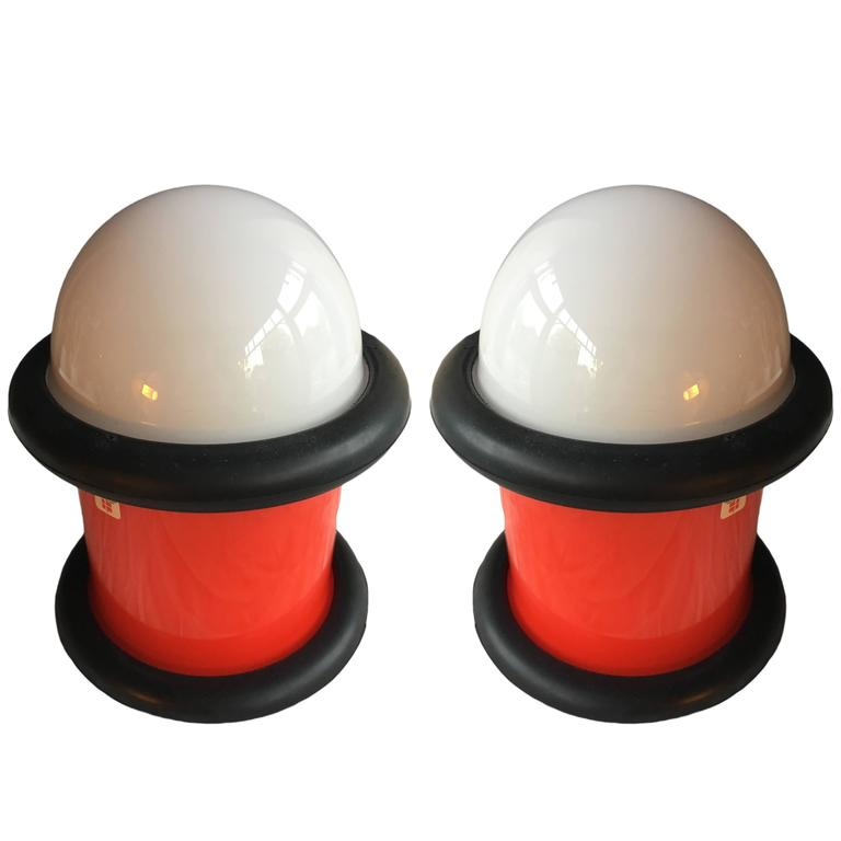 Pair of Holmegaard 'epoke 3' Lamps by Michael Bang, 1972