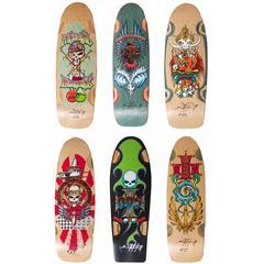 Original Dogtown Bulldog Skateboard Decks by Wes Humpston, New Old Stock, Signed