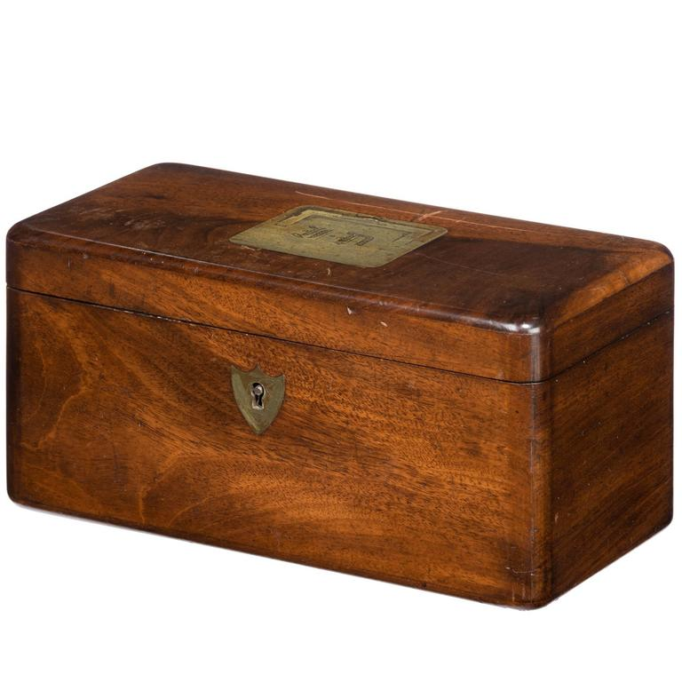 Late 19th Century Mahogany Tea Caddy