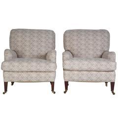 Pair of Howard and Sons Bridgewater Armchairs