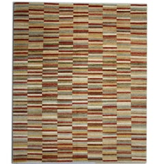Handmade Rug Multi colored Indian Stripped Rugs, Modern Carpet Rugs