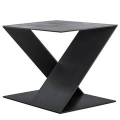 Tack End Table D by Uhuru Design, hand blackened steel