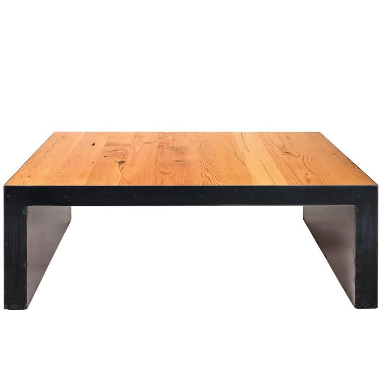 Steel This Coffee Table.  A modern coffee table handmade from reclaimed fir. For Sale