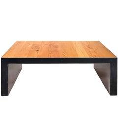 Minimal Modern Coffee Table Handmade w/ Reclaimed Montana Douglas Fir and Steel