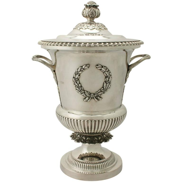 Sterling Silver Presentation Cup and Cover, Antique Edwardian