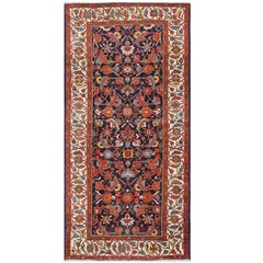 Antique Blue Gallery Size Persian Malayer Rug. Size: 5 ft 5 in x 11 ft 3 in