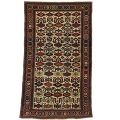 Antique Russian Shirvan Rug with Modern Tribal Style