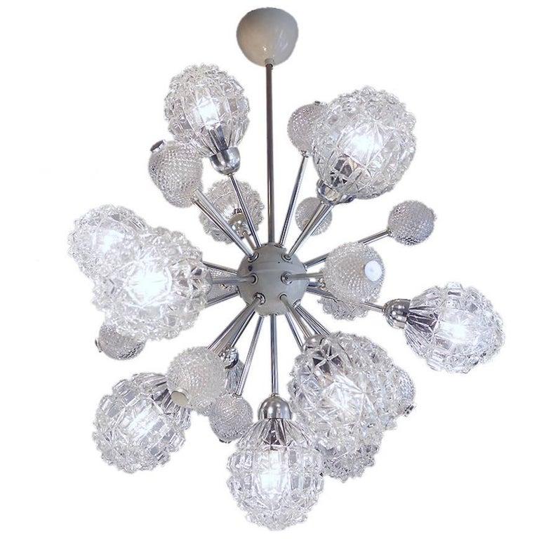 Richard Essig Bubble Glass Sputnik Chandelier For Sale