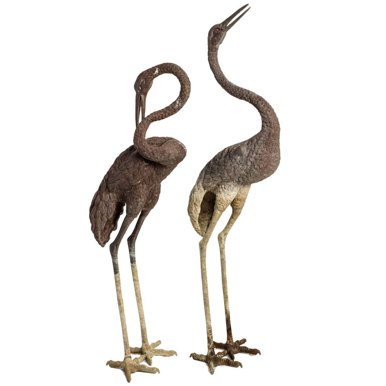 Bronze Crane Statues For Sale At 1stdibs