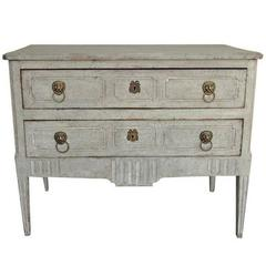18th Century Italian Neoclassical Richly Carved and Painted Commode