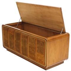Art Deco Burl Wood Lift Top Hope Chest