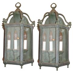 Solid Cast Bronze English Wall Lantern