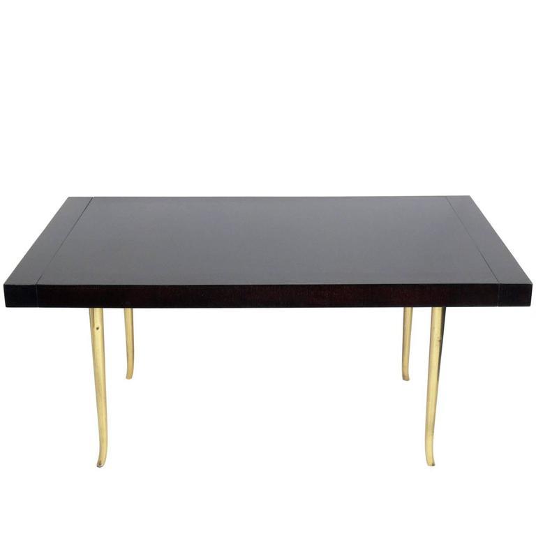 Brass Klismos Leg Dining Table by T.H. Robsjohn-Gibbings for Widdicomb