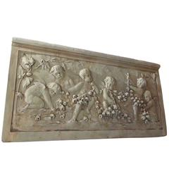 Cast Garden Relief Sculpture