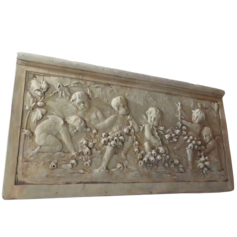 Cast garden relief sculpture for sale at stdibs