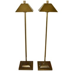 Pair of Hart Associates, Solid Brass Floor Lamps