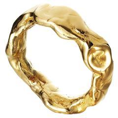 Bangle Gold Coated Resin Philippe Cramer