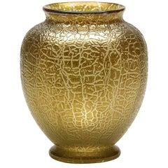 Art Nouveau Loetz Yellow / Gold Art Glass Vase, 1910