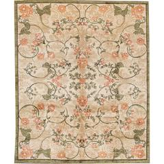 21st Century Modern Beige Green Spanish Colonial Style Rug