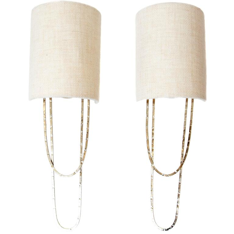 Pair of porta romana small pendolino wall sconces nickel finish at pair of porta romana small pendolino wall sconces nickel finish for sale mozeypictures Image collections