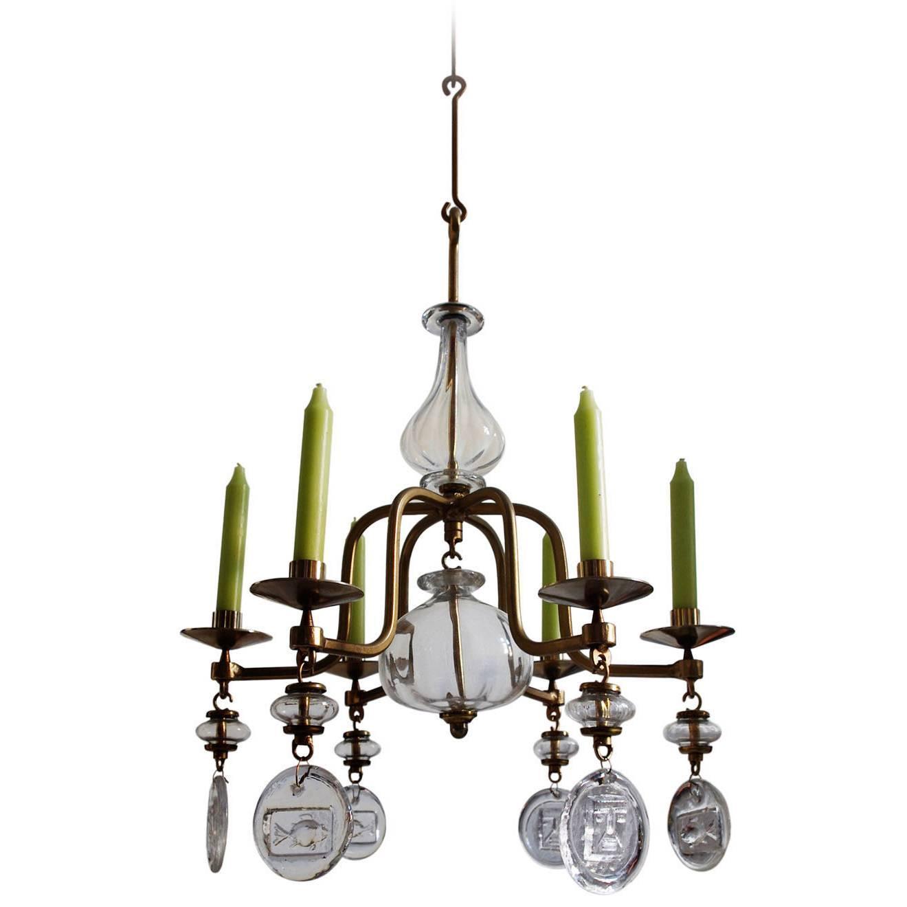 Erik hoglund art glass candelabra chandelier pendant boda sweden erik hoglund art glass candelabra chandelier pendant boda sweden 1960s for sale at 1stdibs arubaitofo Gallery