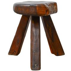 French Tripod Stool in Manner of Alexandre Noll, 1950s