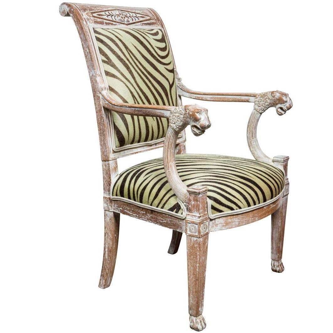 A Pair Of Period French Chairs With Missoni Fabric At 1stdibs: Turn-of-the-Century French Armchair For Sale At 1stdibs