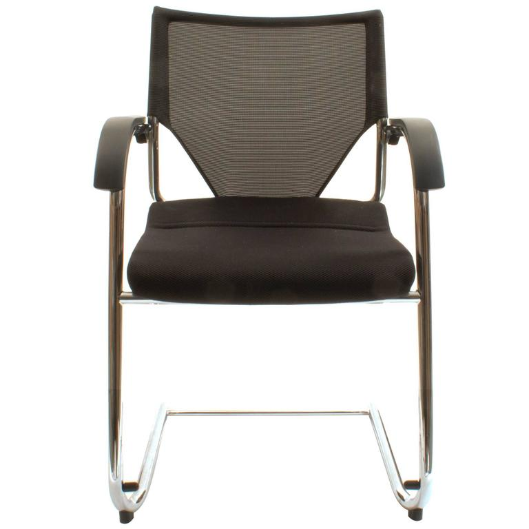 Black Wilkhahn Modus Executive Cantilever Office Armchair For Sale At  1stdibs
