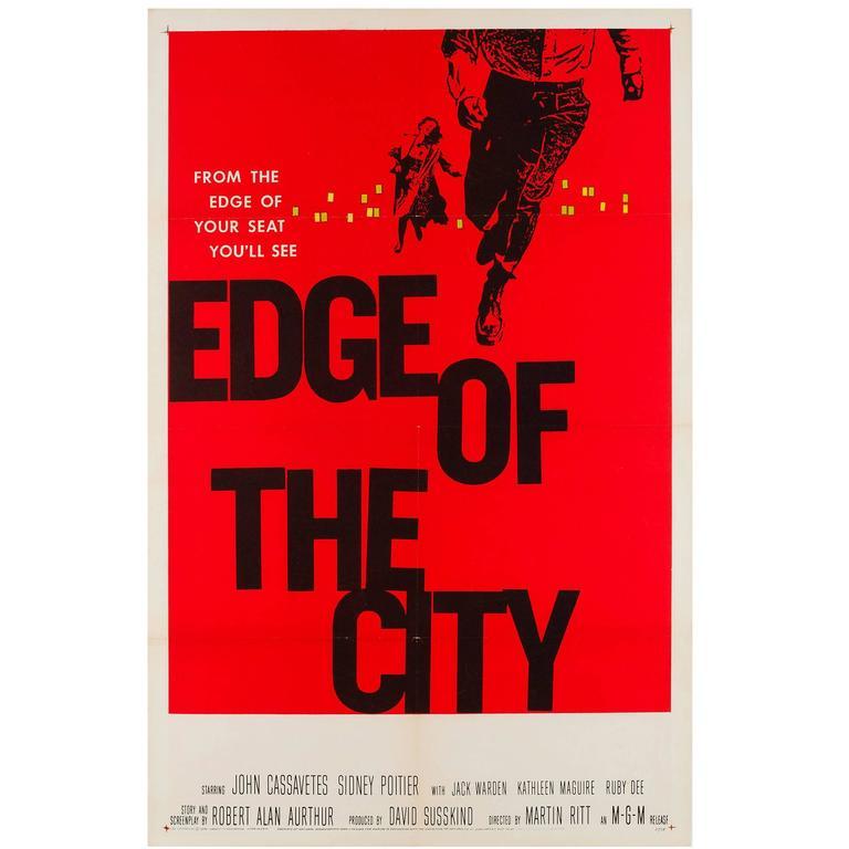 Edge of the City Original US Film Poster, Saul Bass, 1957 at 1stdibs