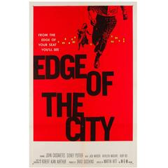 Edge of the City Original US Film Poster, Saul Bass, 1957